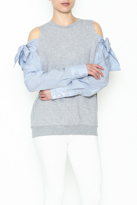 Do-Be Tie Shoulder Sweater $39.99 thestylecure.com