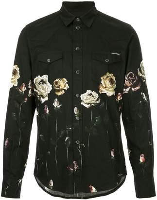 Dolce & Gabbana floral print long-sleeve shirt