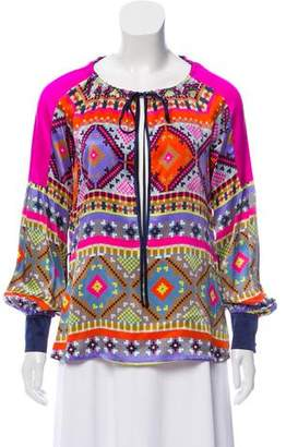 Matthew Williamson Silk Printed Blouse