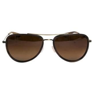 Barton Perreira Brown Metal Sunglasses