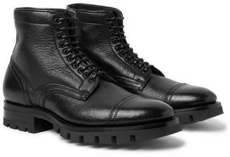 Santoni Full-Grain Leather Boots
