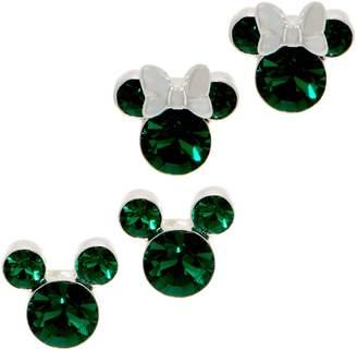 Disney Mickey's 90th Birthday Simulated Birthstone Stud Earrings, Sterl