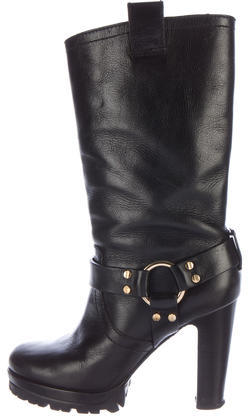 Tory BurchTory Burch Leather Round-Toe Boots
