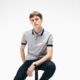 Lacoste Men's Slim Fit Contrast Pima Pique Polo