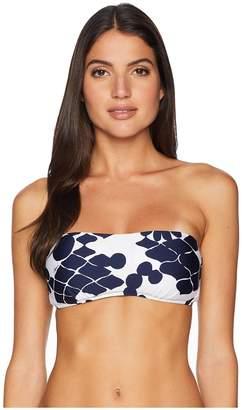 Trina Turk Bali Blossoms Bandeau Top Women's Swimwear