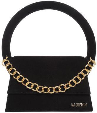 Suede Shoulder Bag W/ Chain Detail $935 thestylecure.com