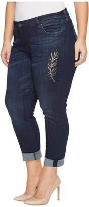 KUT from the Kloth Plus Size Boyfriend in Overt/Dark Stone Base Wash Women's Jeans