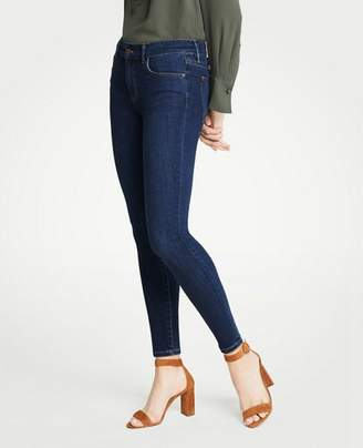 Ann Taylor Curvy All Day Skinny Jeans In Mid Indigo Wash