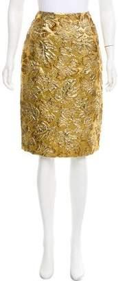 Prada Brocade Pencil Skirt w/ Tags