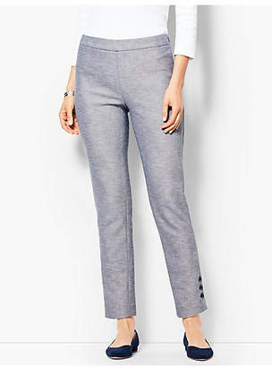 Talbots Chatham Button Ankle Pant - Sharkskin