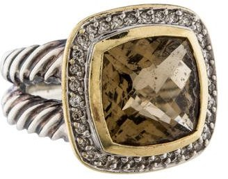 David Yurman Smoky Quartz Albion Ring $695 thestylecure.com
