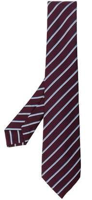 Kiton woven striped tie
