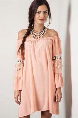 People Outfitter Off -Shoulder Coral Dress