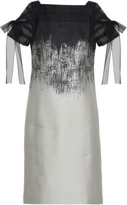 Amanda Wakeley Tulle-trimmed Degrade Jacquard Dress
