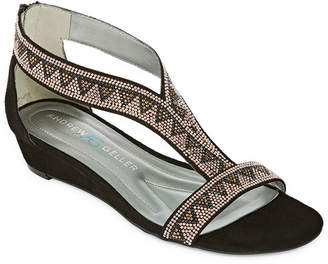 Andrew Geller Irene Womens Wedge Sandals