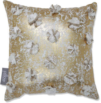 Pillow Perfect Glamour Poms 12In Throw Pillow