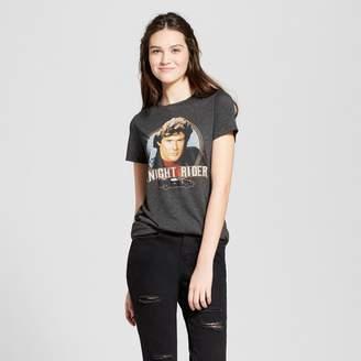 Awake Women's Knight Rider Short Sleeve Crew Neck T-shirt Juniors') - Charcoal