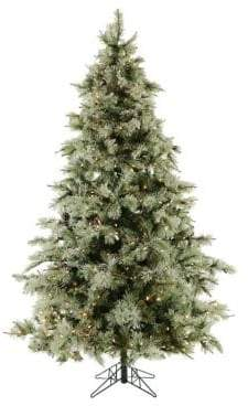 clear Fraser Hill Farms 7.5-Ft. Glistening Pine Tree with Pine Cones and Smart Lights