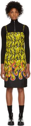 Prada Multicolor Banana Strappy Short Dress
