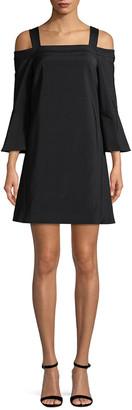 Tibi Bell Sleeve Shift Dress