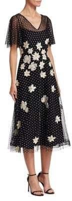 Teri Jon by Rickie Freeman Flutter Sleeve Dress