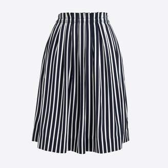 J.Crew Striped pleated midi skirt