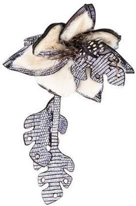 Fendi Fur Flower Bracelet Silver Fur Flower Bracelet