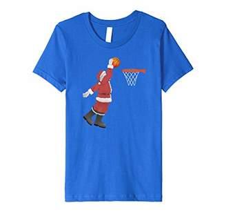 Christmas Basketball Santa Dunk Shirt-Slam Dunk Santa TShirt