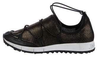Jimmy Choo Andrea Mesh Slip-On Sneakers