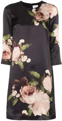 Erdem floral print silk mini dress