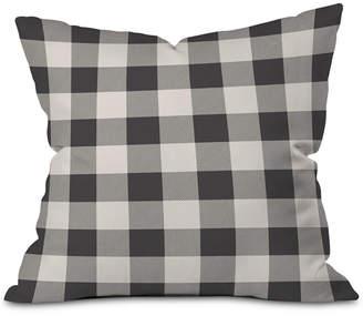 Deny Designs City Plaid Outdoor Throw Pillow
