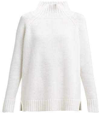 Allude High Neck Cashmere Sweater - Womens - Ivory