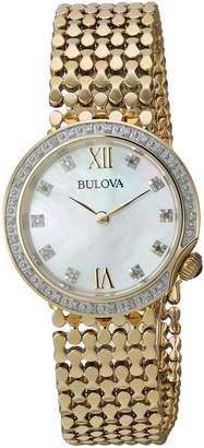 Bulova Women's Quartz Stainless Steel Casual Watch, Color:-Toned (Model: 98R218)
