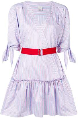 Pinko striped belted mini dress
