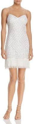 Aidan Mattox Fringe-Hem Beaded Dress $245 thestylecure.com