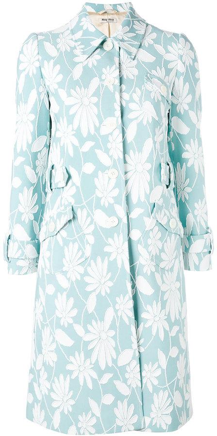 Miu MiuMiu Miu floral print coat