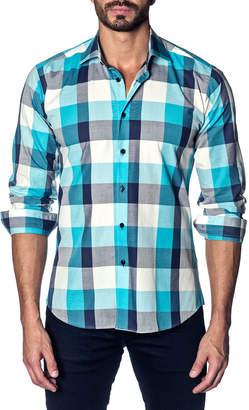 Jared Lang Semifitted Blanket Plaid Sport Shirt