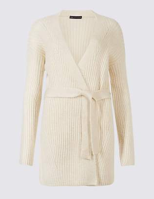 M&S Collection Belted Long Sleeve Cardigan