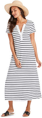 Vineyard Vines Notch Neck Striped Maxi Dress