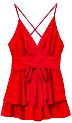 Goodnight Macaroon 'Marika' Cross Back Front Tied Babydoll Dress (2 Colors)