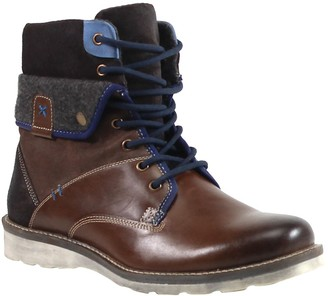 Testosterone Shoes Men's Lace-Up Leather Boots- Ace Race