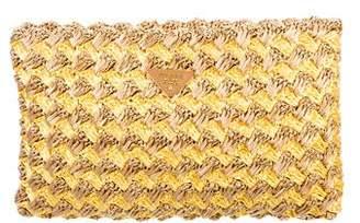 Prada Raffia Crochet Clutch