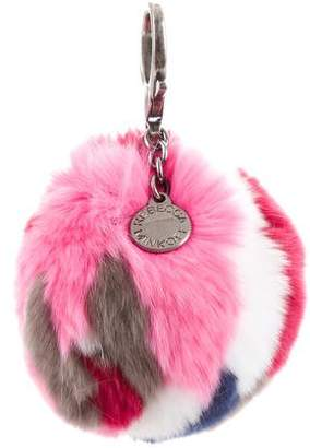 Rebecca Minkoff Fur Pom-Pom Bag Charm w/ Tags