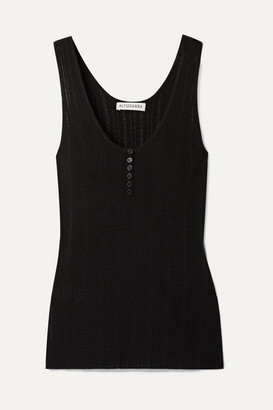Altuzarra Pointelle-knit Wool And Cashmere-blend Tank