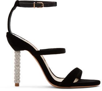 Sophia Webster Black Velvet Rosalind Sandals
