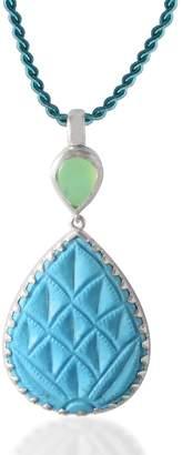 Emma Chapman Jewels - Aztec Chrysoprase Turquoise Pendant