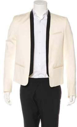 Balmain Wool Open-Front Blazer