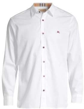 Burberry William Color Pop Woven Button-Down