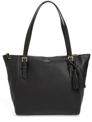Kate Spade New York Orchard Street - Maya Leather Tote - Black $358 thestylecure.com