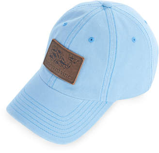 a7c0af3f8f6 Vineyard Vines Leather Whale Fill Logo Patch Twill Baseball Hat